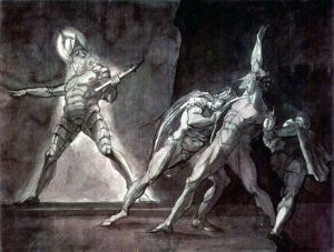Fuseli Hamlet and his father's ghost