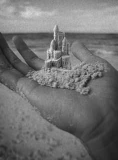 Building Sand Castles Below Hounds Tooth Cloud