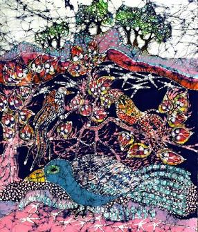 magical-birds-art-original-batik-painting-very-large