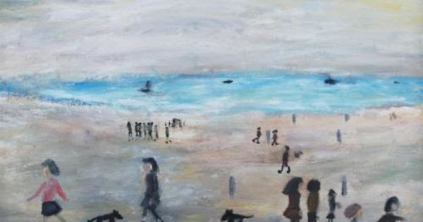 lowrys-people-on-the-beach
