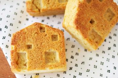 House shaped toast