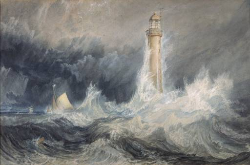 Bell Rock Lighthouse 1819 by Joseph Mallord William Turner 1775-1851