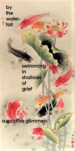 Goldfish Haiga
