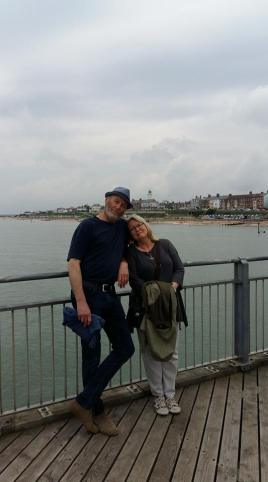 David and me at Southwold 8th August 2017