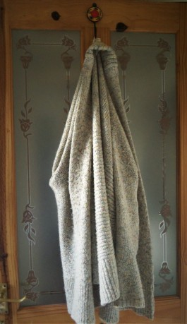 on the back of the bathroom door